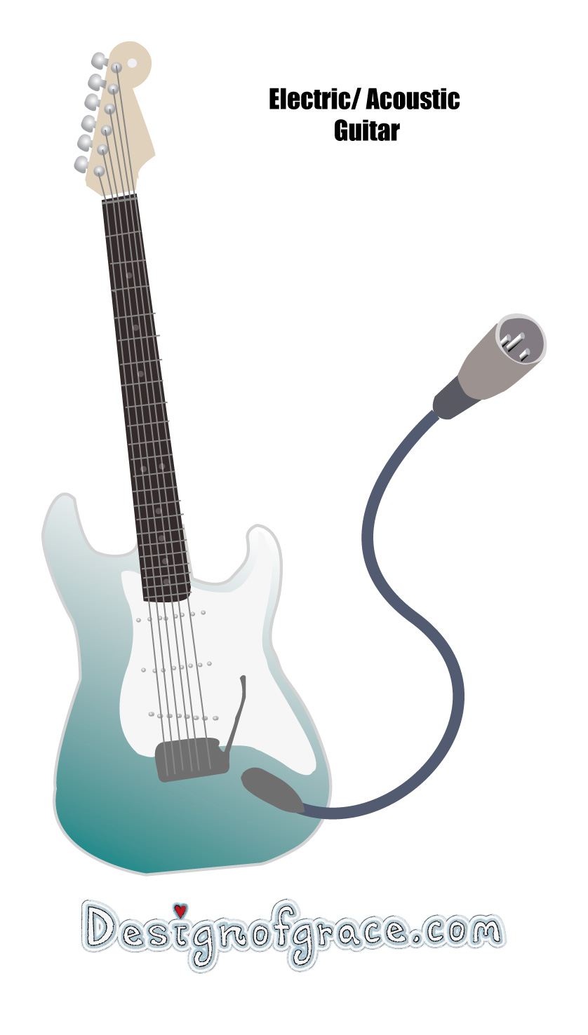 Illustration of a Electric Guitar for a home studio setup