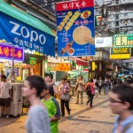 zopo food stall with massive poster advertising food