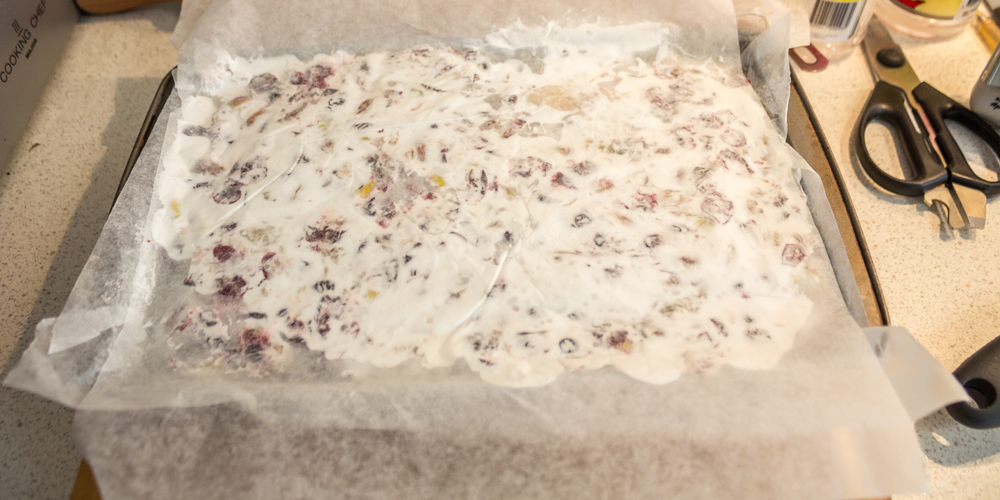 The top view of my 1st batch of vegan nougat