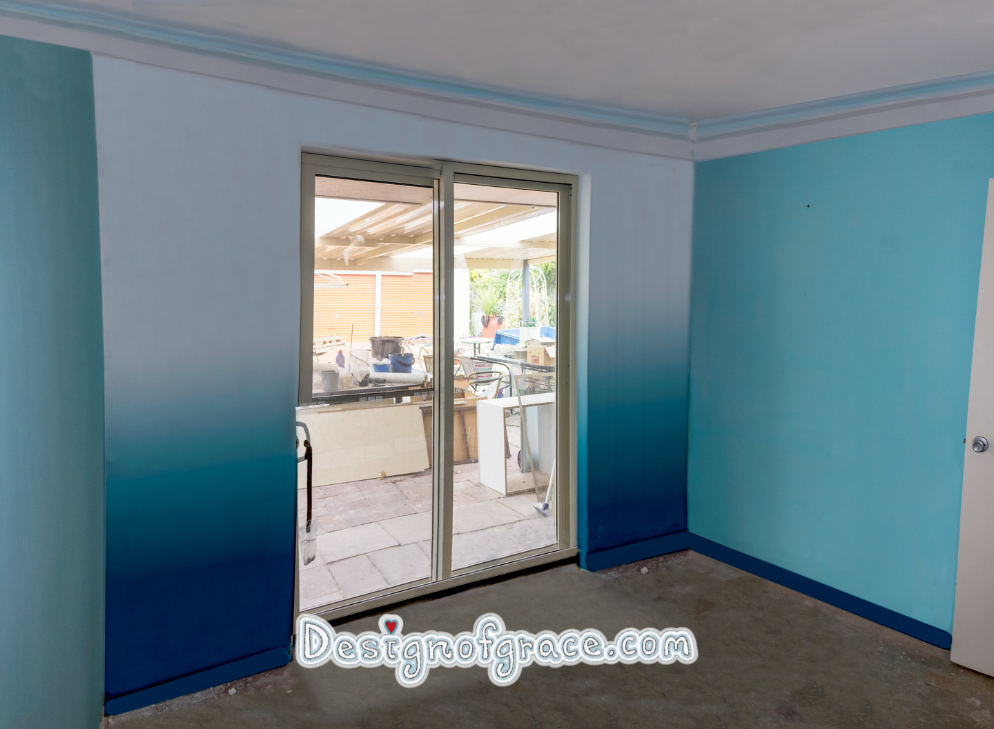 Artist impression of 3 parts white, 2 parts lagoon teal and 1 part Antarctic