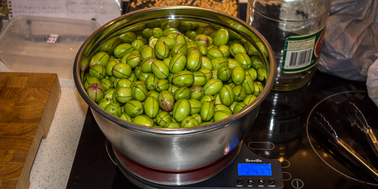 The Green Olives were 2.477 kg