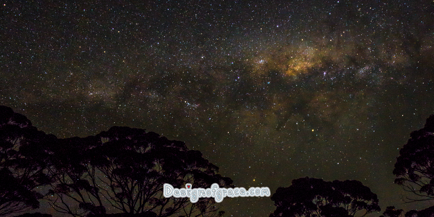 milky way in the night sky in Ravensthrope