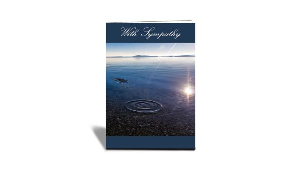 C21 Flat Head Lake Ripples, | Nature | Inspirational Photo Greeting Cards With Text | With Sympathy