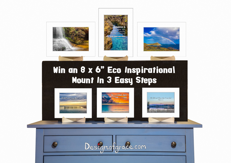 "Win an 8 x6"" Eco Inspirational mount in 3 easy steps!"
