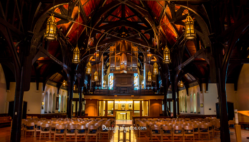 Amazing beautiful architecture inside of the Christ Church Cathedral, Vancouver, Canada